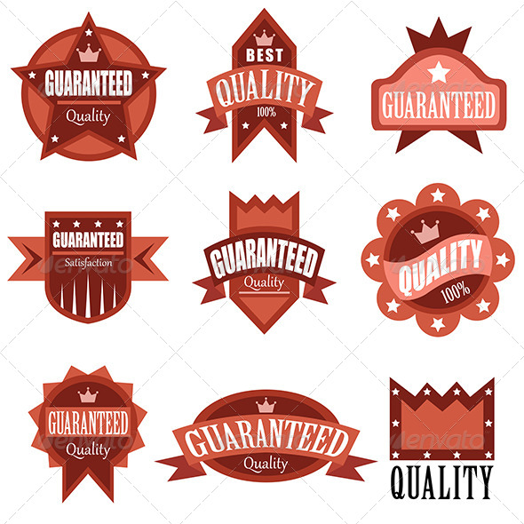 High Quality Labels - Decorative Vectors