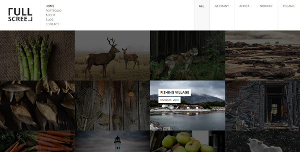 Fullscreen – Photography Portfolio Drupal Theme