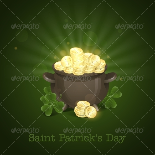 St. Patrick's Day. Pot Of Gold.  - Miscellaneous Seasons/Holidays