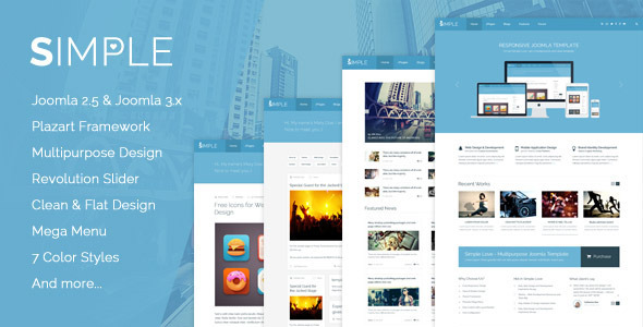 Simple Love - Multipurpose Joomla Template