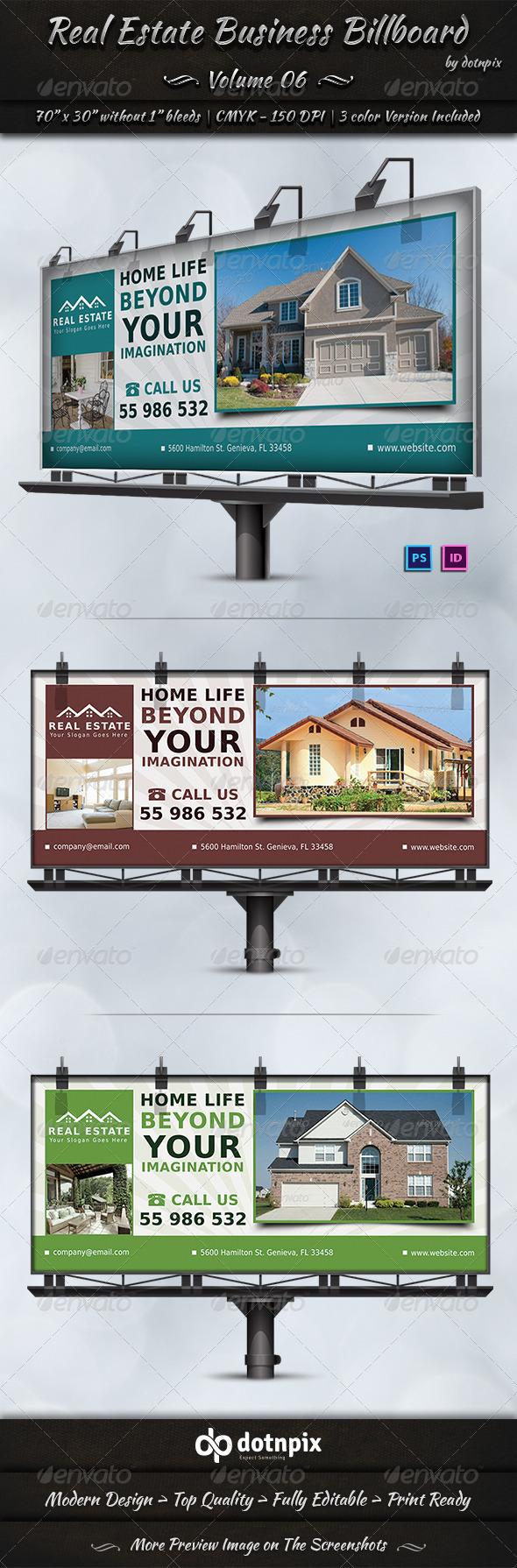 Real Estate Business Billboard | Volume 6 - Signage Print Templates