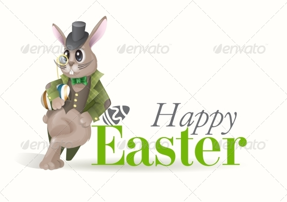 Easter Background With Bunny - Miscellaneous Seasons/Holidays