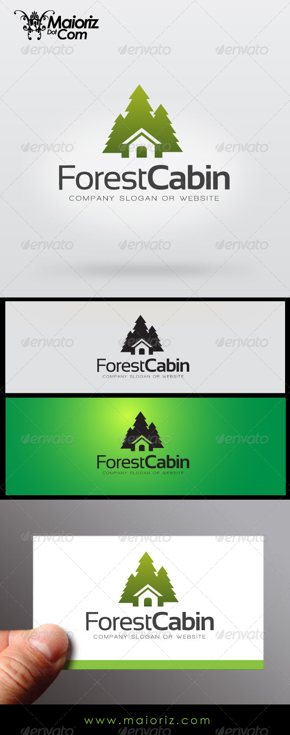 Forrest Cabin - Buildings Logo Templates