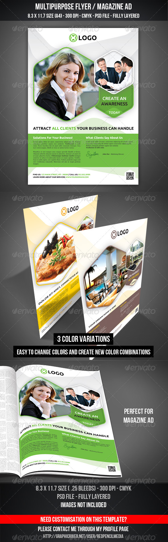 Multipurpose Flyer / Magazine AD - Flyers Print Templates