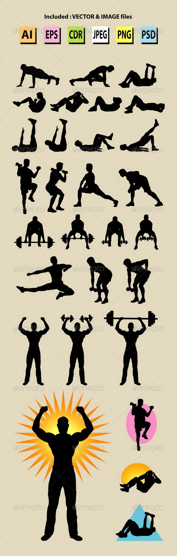 Male Sport Silhouettes - Sports/Activity Conceptual