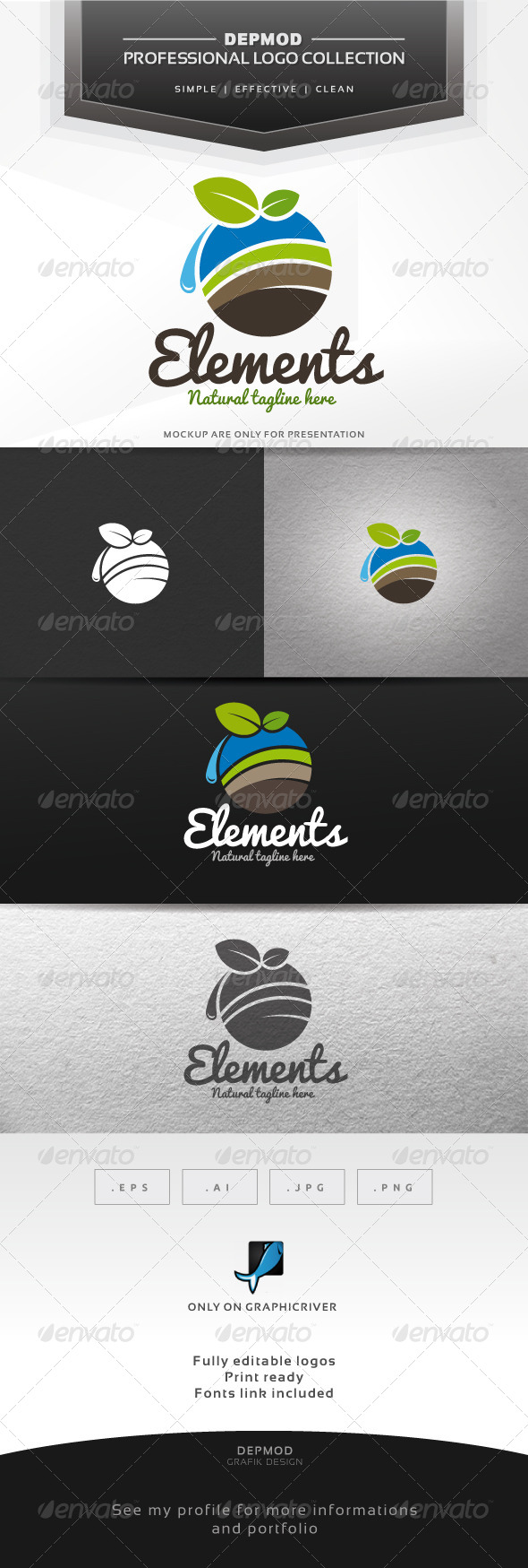 Elements Logo - Symbols Logo Templates