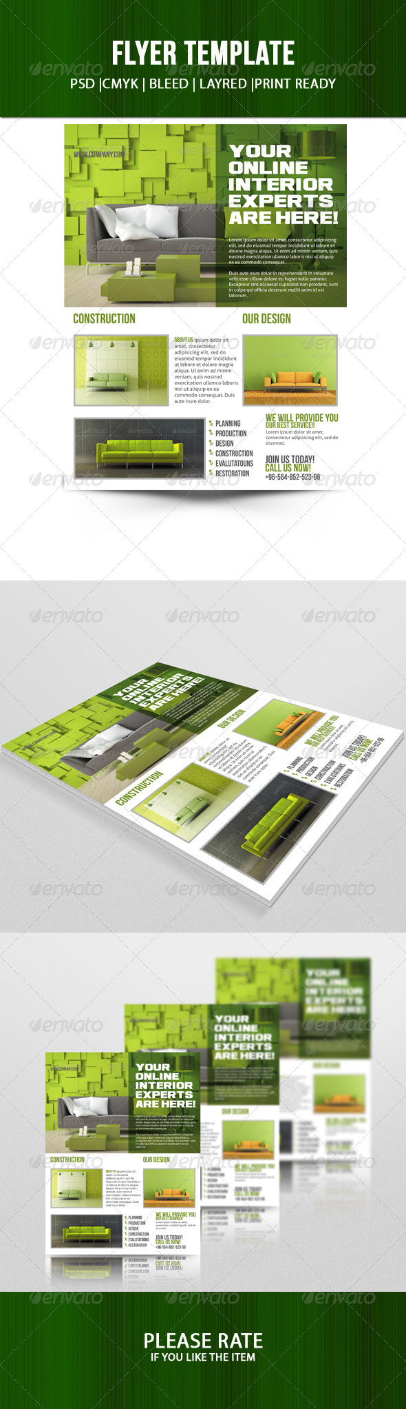 Interior Flyer Template - Corporate Flyers