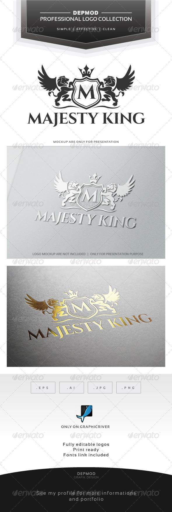 Majesty King V.02 Logo - Crests Logo Templates