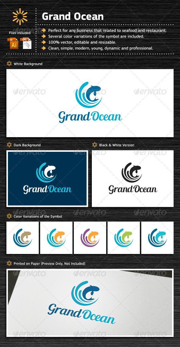Grand Ocean - Food Logo Templates