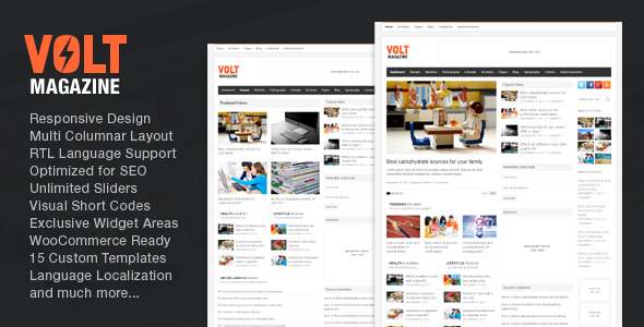 Volt – Magazine / Editorial WordPress Theme
