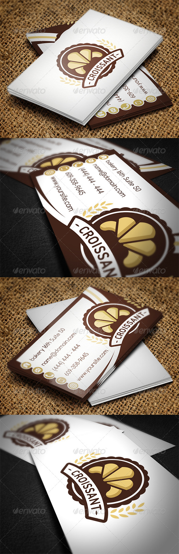 Bakery Business Card - Industry Specific Business Cards