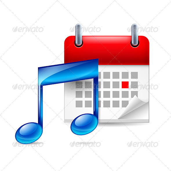 Music Note and Calendar - Miscellaneous Vectors