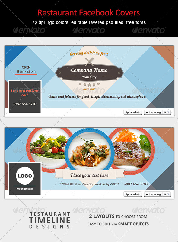 Restaurant Facebook Covers - Facebook Timeline Covers Social Media