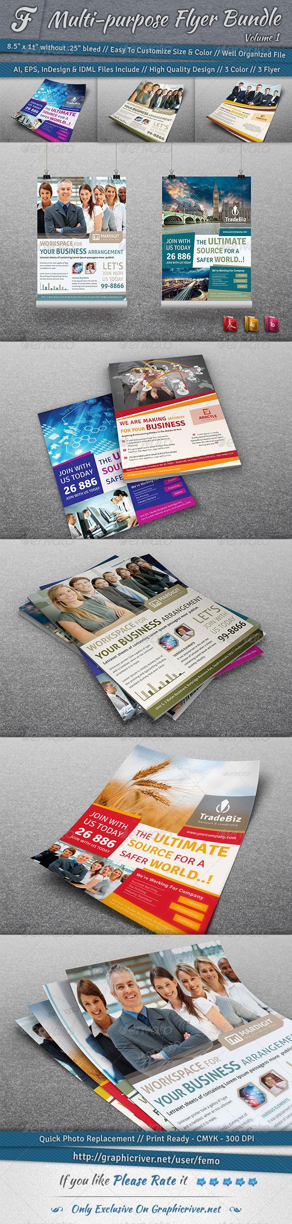Multi-purpose Flyer Bundle | Volume 1 - Corporate Flyers