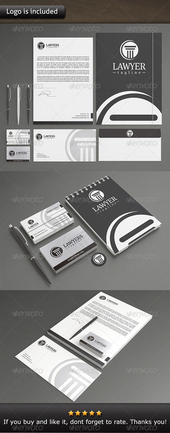 Law Firm Stationery - Stationery Print Templates