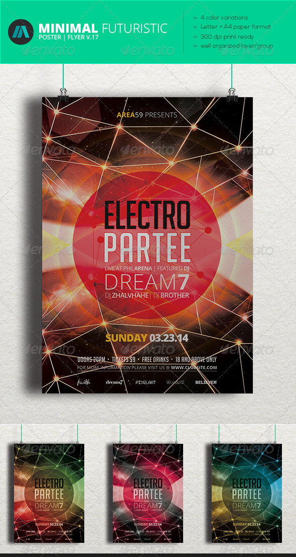 Minimal - Futuristic Poster | Flyer V.17 - Clubs & Parties Events
