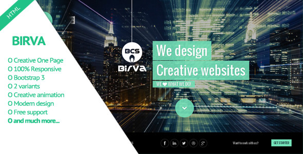 Birva -  Creative One Page Theme by abmathasuriya