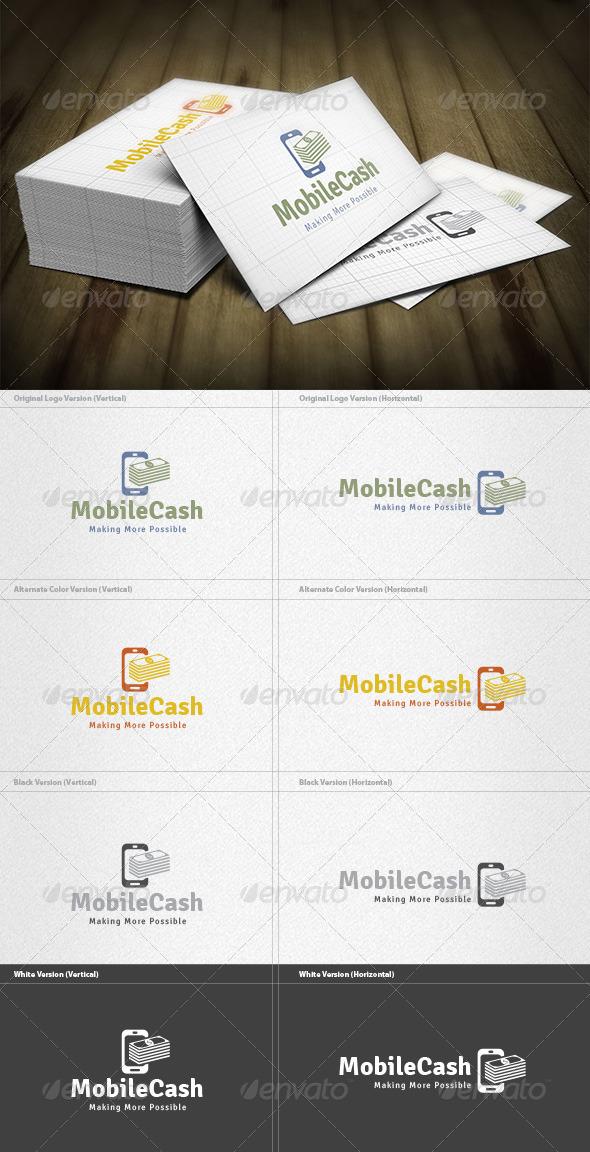 Mobile Cash Logo - Symbols Logo Templates