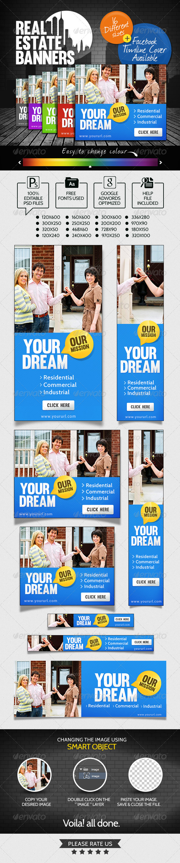 Real Estate Banner Set - Banners & Ads Web Elements
