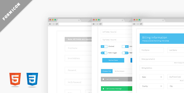 Formicon - Flat Forms Pack - CodeCanyon Item for Sale