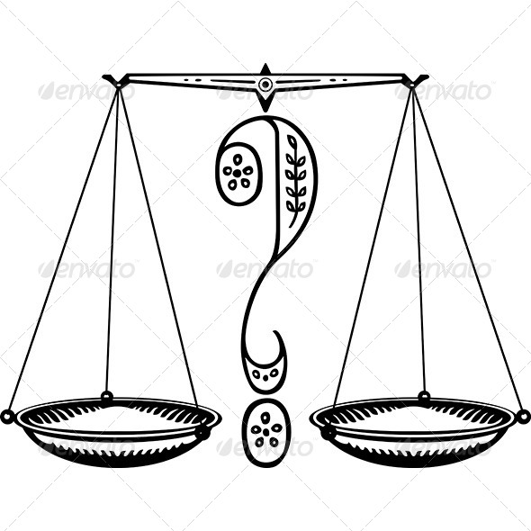 Question Weighing Scales - Decorative Symbols Decorative