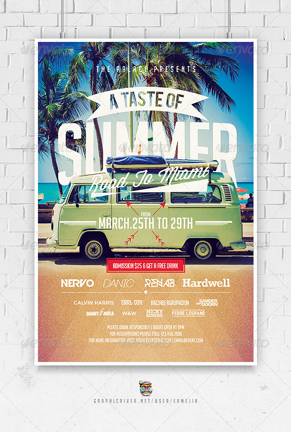A Taste Of Summer Flyer Template By Eamejia  Graphicriver
