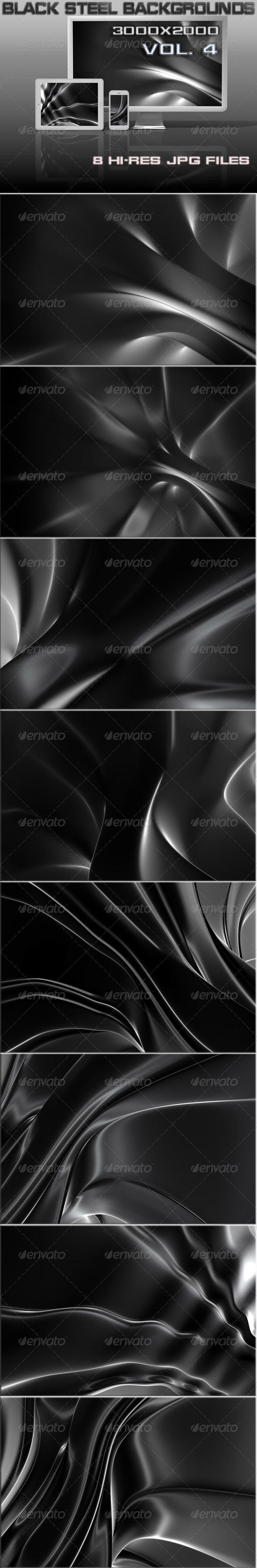 Black Steel 3D Background - 3D Backgrounds