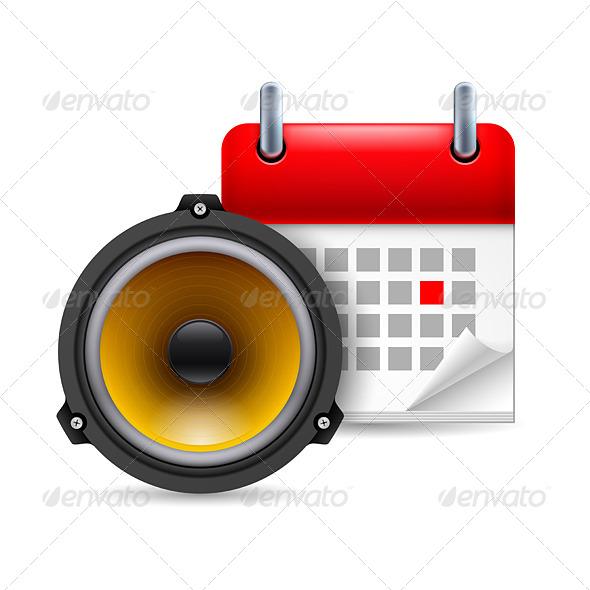 Sound Speaker and Calendar - Miscellaneous Vectors