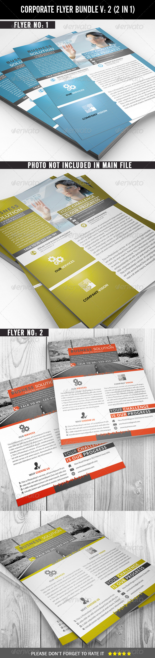 Corporate Flyer Bundle - Corporate Brochures