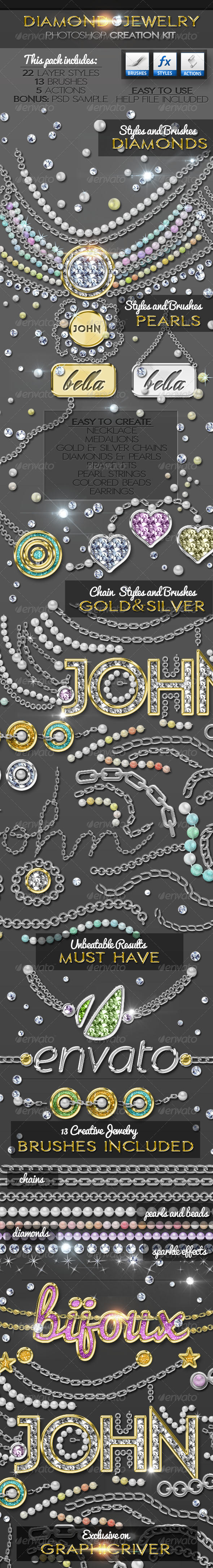 Diamond Gold Silver and Pearls Jewelry Creator - Utilities Actions