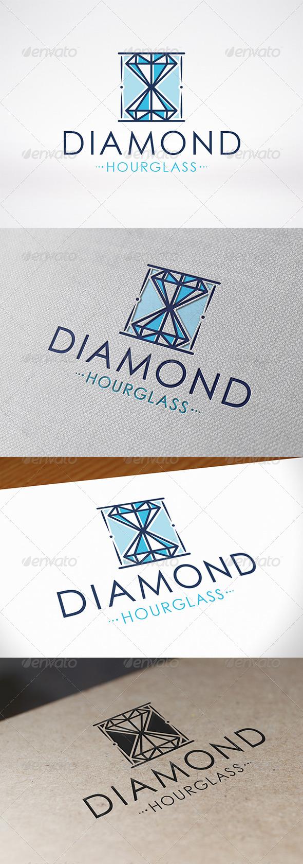 Diamond Hourglass Logo - Objects Logo Templates