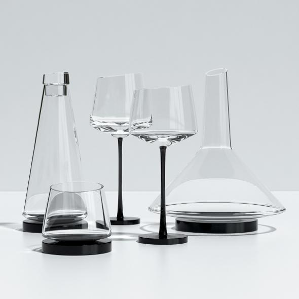 Somelier Glassware - 3DOcean Item for Sale