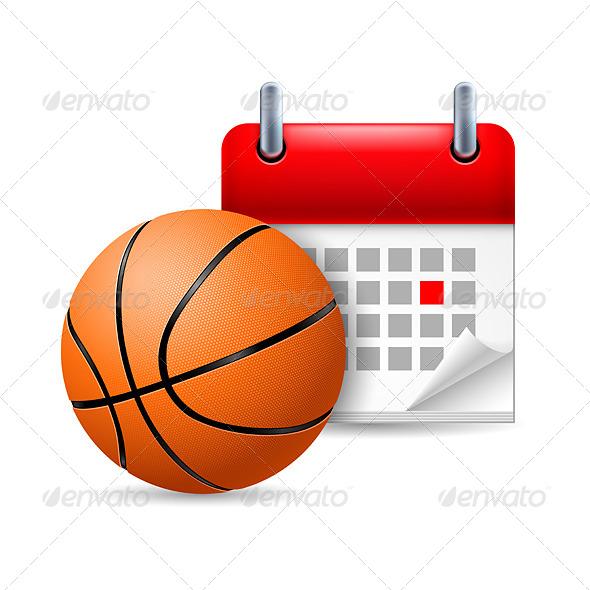 Basketball and Calendar - Miscellaneous Vectors