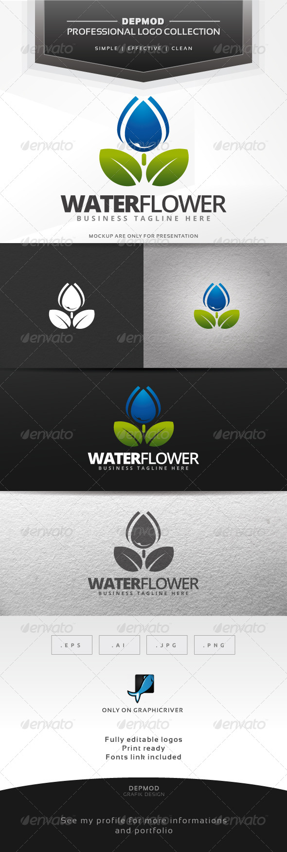 Water Flower Logo
