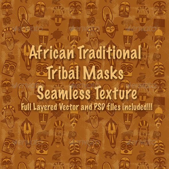 African Tribal Mask Pattern - Patterns Decorative