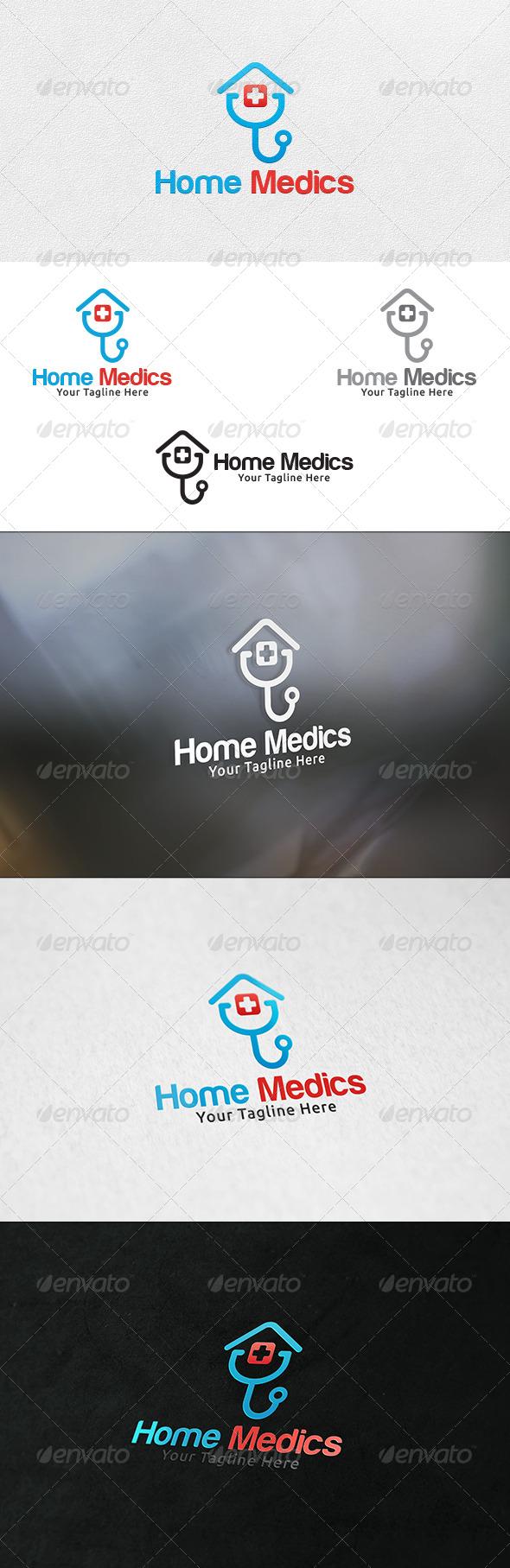 Home Medics - Logo Template - Buildings Logo Templates