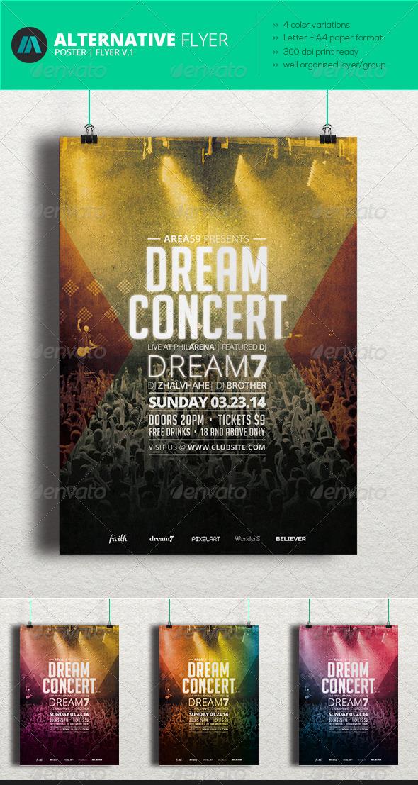Alternative Flyer V.1 - Concerts Events