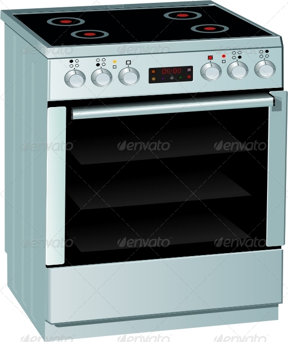 Electric Stove - Food Objects