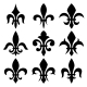 Fleur de Lis Set - GraphicRiver Item for Sale