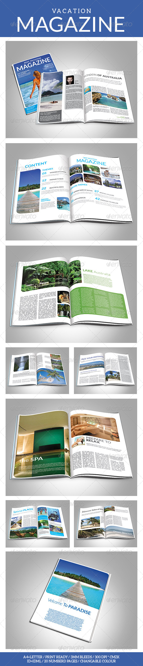 Vacation Magazine Template - Magazines Print Templates