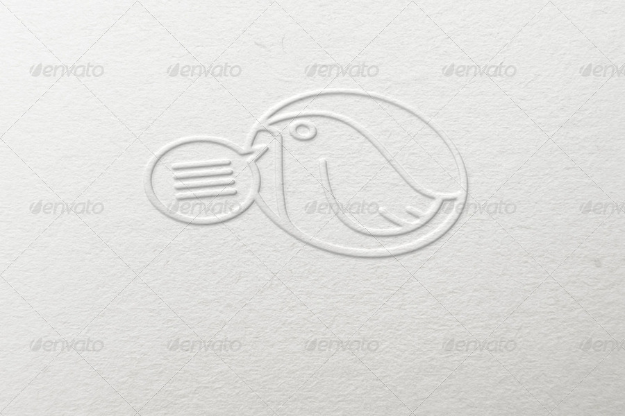 embossed effect logo mockup by themockupfactory graphicriver