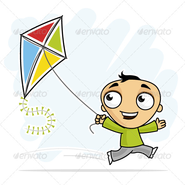 Fun with Kite - People Characters