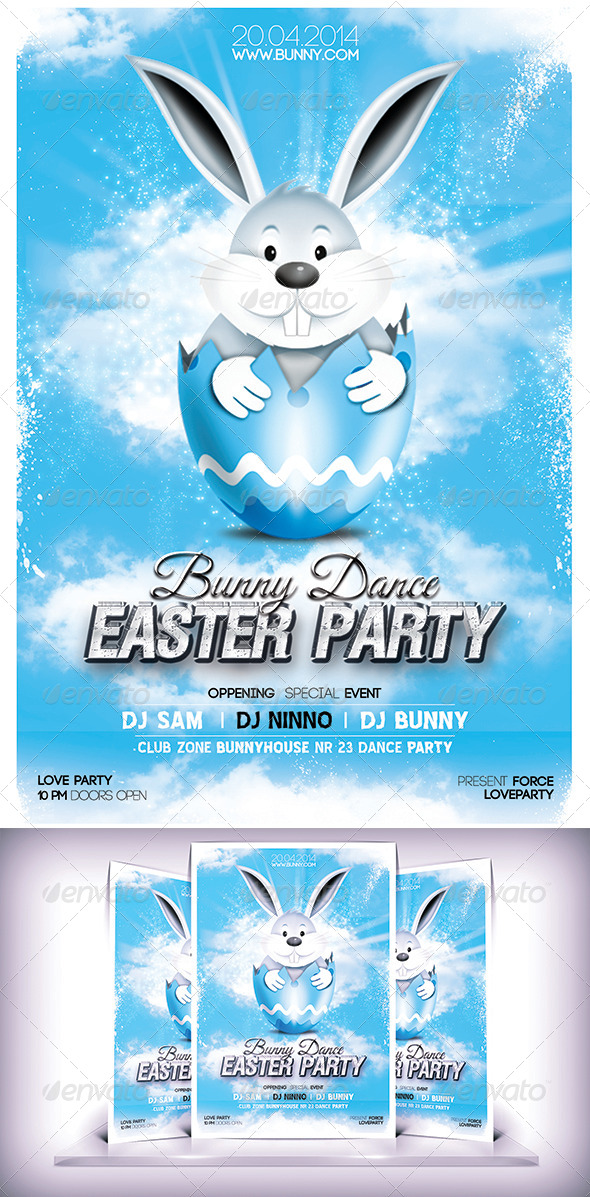 Easter Party  Day Flyer - Holidays Events