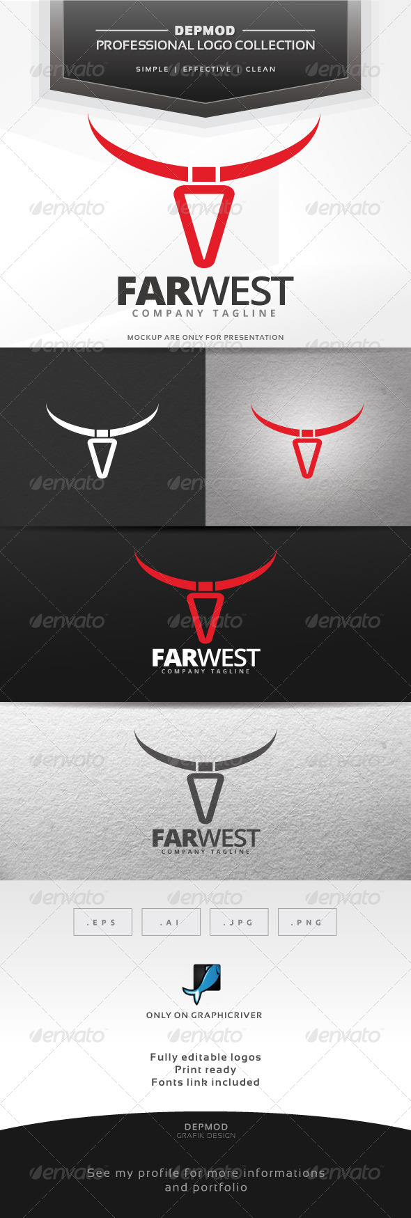 Far West Logo - Symbols Logo Templates