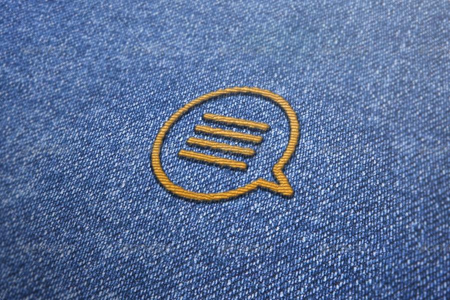 Embroidered Effect Logo MockUp
