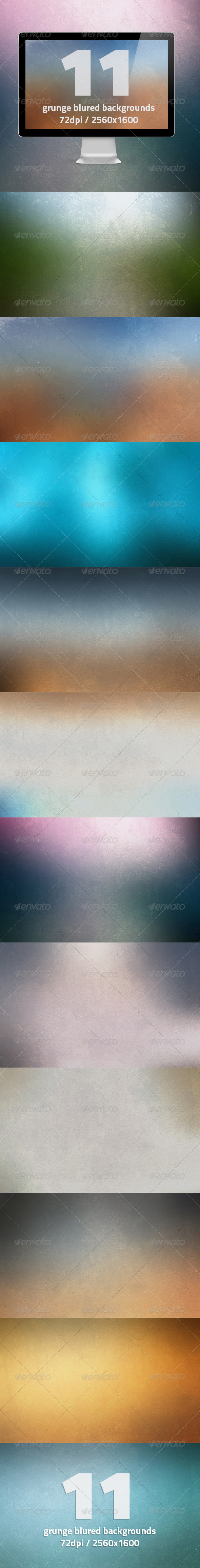 11 HQ Grunge Blurred Backgrounds - Abstract Backgrounds