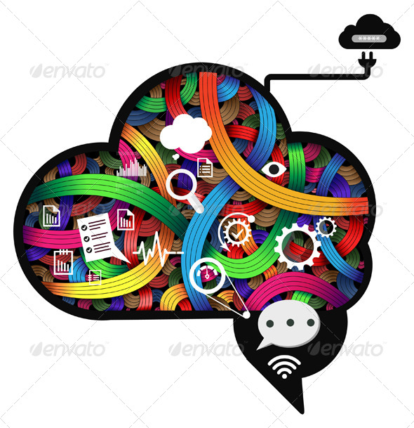 Brain Working Abstract - Illustration - Concepts Business