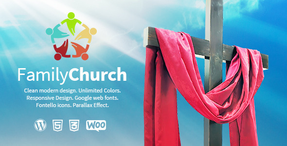 Family Church | Clean Responsive Religion Theme - Churches Nonprofit