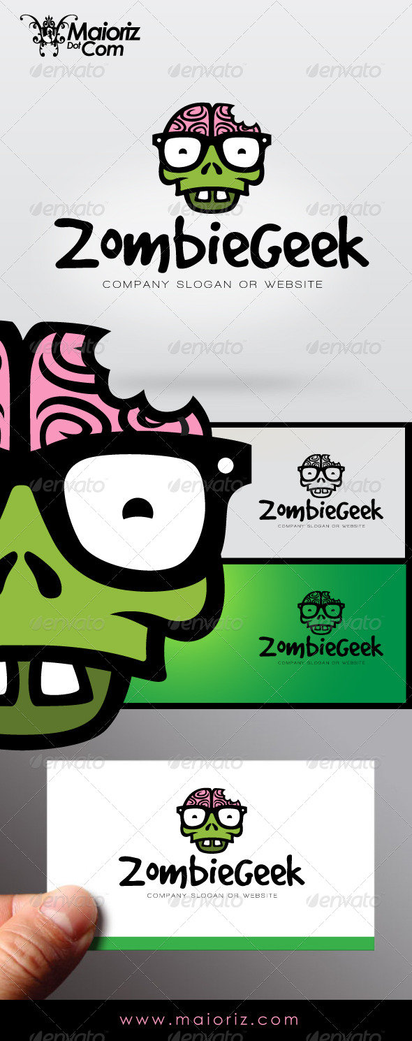 Zombie Geek Logo - Humans Logo Templates