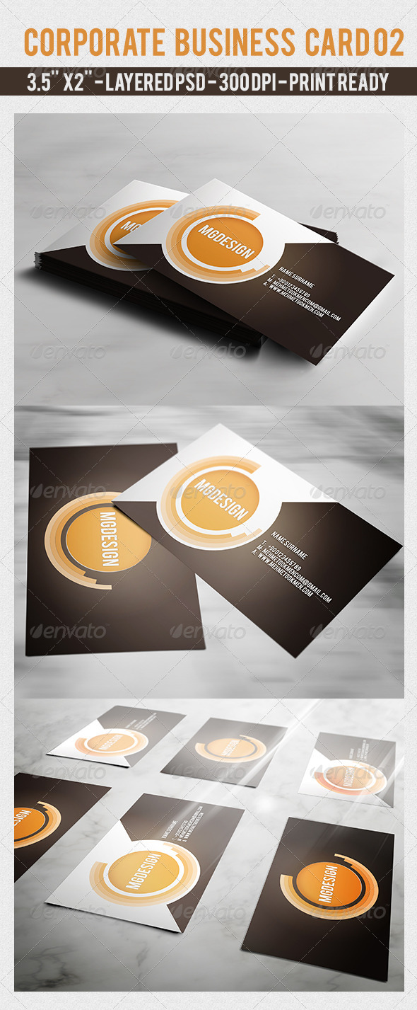 Corporate Business Card 02 - Corporate Business Cards